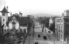 En els primers anys del segle XX el carrer Muntaner era una via recta cap a Sant Gervasi i la Bonanova. BARCELOFÍLIA (1904-1930's)