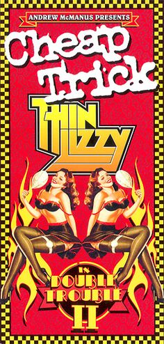 Cheap Trick and Thin Lizzy Concert Poster