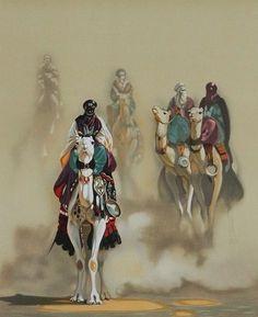 Illustrations, Illustration Art, Arabian Art, Islamic Paintings, Shadow Warrior, Arabic Calligraphy Art, Amazing Paintings, North Africa, Islamic Art
