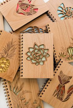 Mint Green Succulent Wood Journal [Blank Pages Laser Cut Notebook / Plant Lovers / Gratitude] Wood Crafts Blank cut Gratitude green journal Laser lovers Mint Notebook Pages Plant Succulent Wood Laser Cutter Ideas, Laser Cutter Projects, Wood Crafts, Diy And Crafts, Gravure Laser, Laser Cut Wood, Laser Cutting, Wood Laser Engraving, Wood Laser Ideas