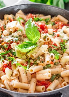 "<p>Tomato, Basil and Spinach Penne</p> <p><a href=""http://www.jocooks.com/healthy-eating/tomato-basil-spinach-penne/"" target=""_blank"">Get the recipe here.</a></p>"