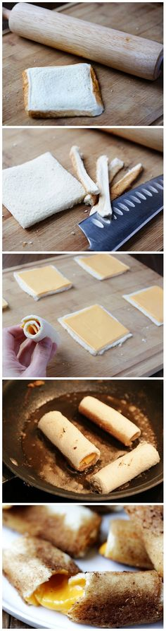 Grilled Cheese Rolls---hubs would love these!