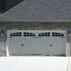 Quality Canadian Steel Coach House Overhead Garage Doors With Windows  Insulation And Warranty For Residentail Use.