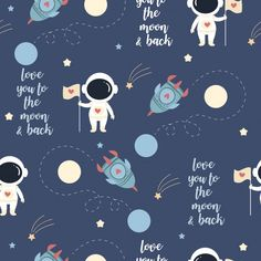 Cute astronaut in love on the space pattern Premium Vector Baby Wallpaper, Galaxy Wallpaper, Pattern Wallpaper, Space Illustration, Pattern Illustration, Cute Pattern, Pattern Design, Vector Pattern, Design Design