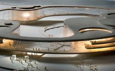 culture and conference centre, germany [lundgaard & tranberg arkitekter] Cultural Architecture, Architecture Design, Organic Architecture, Concept Architecture, Futuristic Architecture, Landscape Architecture, Landscape Model, Chinese Architecture, Landscape Design