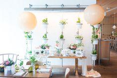 Dessert table from a Garden Baby Shower on Kara's Party Ideas | KarasPartyIdeas.com (35)