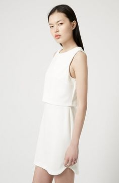 Topshop Sleeveless Overlay Dress available at #Nordstrom