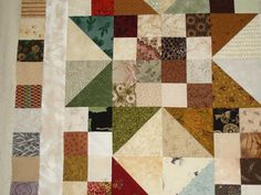 Subee Sews Quilts: Second Buckeye Beauty quilt w/borders,   16 patch, HST