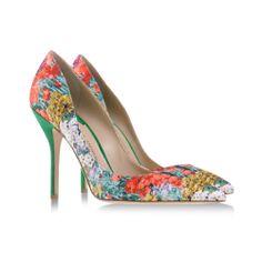 Paul Andrew floral pumps #spring #shoes #scarpe #decollete #paulandrew #flowers #fiori #heels