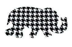 images of all things hounda tooth | Houndstooth Elephant Vinyl Decal / Car Decal / Computer Decal / Wall ...