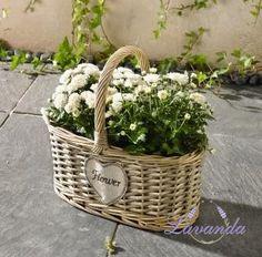 Prútený košík Flower na pestovanie kvetov
