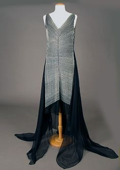 Beaded French Evening Gown, circa 1929.