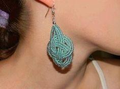 DIY Beads Knot Earrings