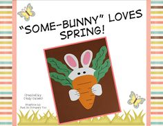 Easy bunny craft, writing, and math activities.