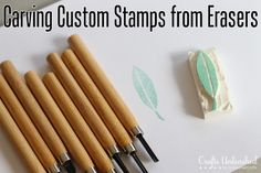 How To Carve Custom Stamps from Erasers via www.craftsunleashed.com @Angie Wimberly Countrychiccottage