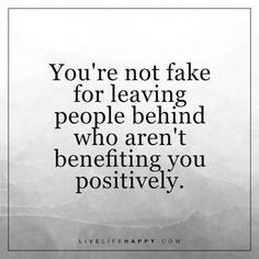 You're Not Fake for Leaving People Behind