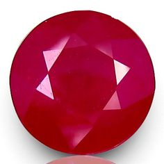 Genuine 6.43 Ct Pigeon Blood Round Faceted by GemsJewelryBeads, $500.00