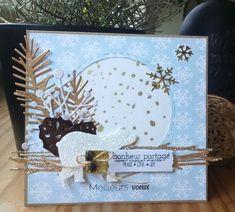 card christmas critters polar bear ice pine branch pine cone snowflake snowflakes Cartoscrap_1