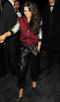Cheryl Cole Sports Luxe Fashion