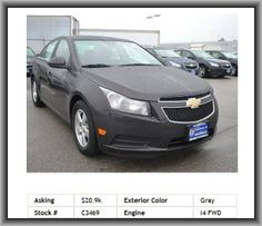 2014 Chevrolet Cruze 1LT Auto Sedan  Alloy Wheels, Cloth Seats, Intermittent Wipers, Leather Steering Wheel, Front And Rear Side Airbags, Splash Guards, Power Sun/Moonroof
