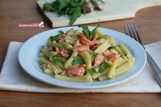 Pasta salmone e rucola, con salmone affumicato ricetta primo piatto velocissimo da preparare, facile e con pochi ingredienti. Blog giallo zafferano