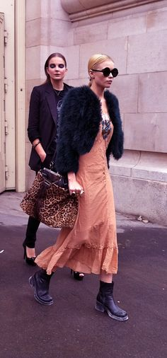 CHANEL Models: Off-Duty Street Style ...see more: http://messynessychic.com/2010/10/07/the-chanel-models-off-duty-streetstyle/