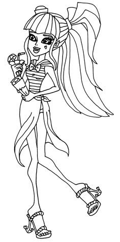 Draculaura Monster High Dolls coloring pages | Haunted ...