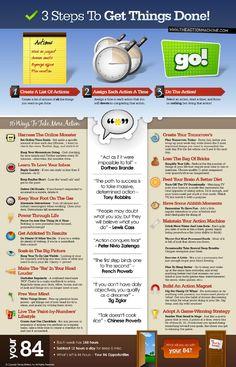 3 Steps To Get Things Done [FREE Printable] : via http://www.kindleexpert.com/GTD