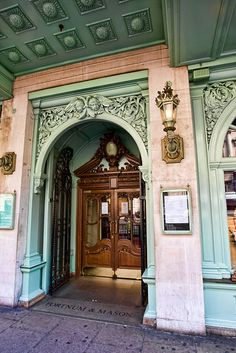 The most glorious entrance to London's most glorious food emporium: Fortnum and Mason's.