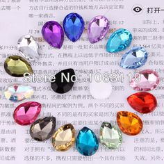 Wholesales Point back Acrylic Stone Painted Siliver Tear Drop Shaped  4*6mm Size,for jewelry,garment and shoe $23.68