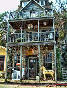 Photographed in 2004 in Eureka Springs, Arkansas, this funky shop epitomizes the eccentricities found throughout this charming little Ozark town.