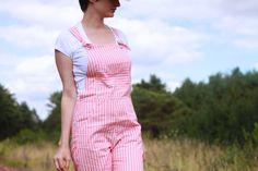 Salopette Turia. Patron Pauline Alice - tissu les trouvailles d'Amandine - Blog Annie Coton Turia dungarees sewing pattern by Pauline Alice