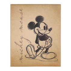 Mickey Mouse Sketch Canvas Art Print | Kirklands