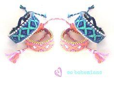 Chain bracelet. Handwoven Friendship Bracelet Blue by sobohemians, $25.90