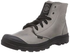 Palladium Pampa Hi Leather, Herren Sneakers, Grau (Gray/Black/Black 002), 44 EU (9.5 Herren UK) - http://uhr.haus/palladium/44-eu-palladium-pampa-hi-leather-herren-sneakers-5