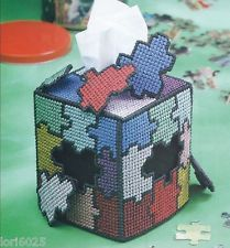 plastic canvas puzzle kleenex box