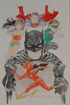 Batman and Justice League by Dustin Nguyen *