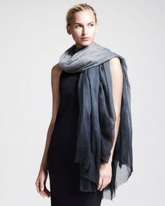Brunello Cucinelli Boiled Cashmere Ombre Scarf on shopstyle.com