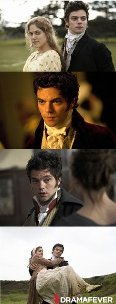 Dominic Cooper as the dashing Willoughby in Sense and Sensibility--the bad boy who makes us swoon!
