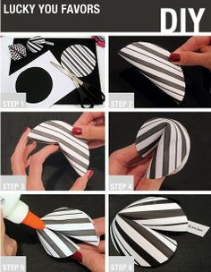 New Year's Craft: How to Make Paper Fortune Cookies Add a little sparkle to your New Year's Eve party with this adorable DIY! How To Make Homemade, How To Make Paper, New Year's Crafts, Arts And Crafts, Diy Paper, Paper Crafts, Black And White Theme, Ideias Diy, Ninja Party
