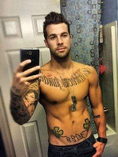 Tattooed boys stripping