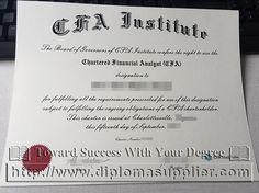 fake CFA certificate for sale in US