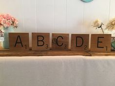 Scrabble Tiles Large Super Thick Letters Jumbo by ThePinkToolBox