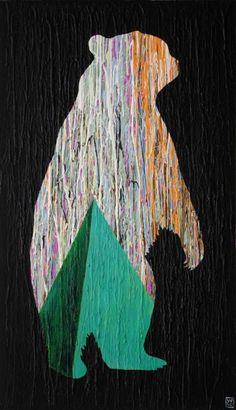 As Tall As the Sky by Will Eskridge #contemporaryart #animalartist #minimalism #surrealism #pyramid #bear