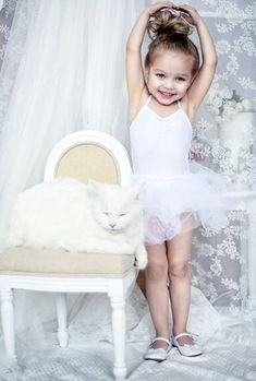 Cute little ballerina girl wearing white tutu. Little People, Little Ones, Little Girls, Dance Photography, Children Photography, Baby Kind, Baby Love, Beautiful Children, Beautiful Babies