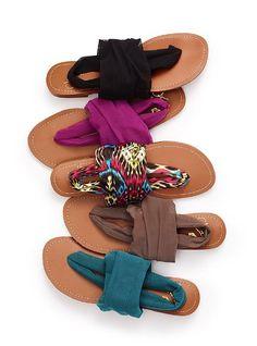 Mesh Wrap Sandal - Colin Stuart® - Victoria's Secret -want!! These look so comfy!