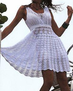 Hand Crocheted Shells & Lace Sleeveless Dress - MADE TO ORDER. $349.00, via Etsy.