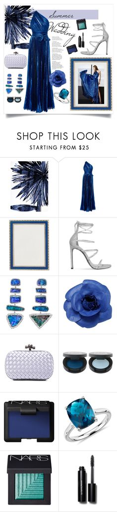"""Summer wedding"" by sarah-alam ❤ liked on Polyvore featuring Leftbank Art, Elie Saab, Haffke, Stuart Weitzman, Irene Neuwirth, Chanel, Bottega Veneta, NARS Cosmetics, Blue Nile and Bobbi Brown Cosmetics"