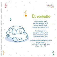 Preschool Spanish, Preschool Songs, Preschool At Home, Teaching Spanish, Songs For Toddlers, Kids Songs, Spanish Songs, Spanish Lessons, Nursery Ryhmes