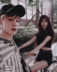 Kpop Couples, Cute Couples, Iphone Wallpaper Pinterest, Rose Video, Fanart, Rose Park, Bts Imagine, Blackpink And Bts, Park Chaeyoung